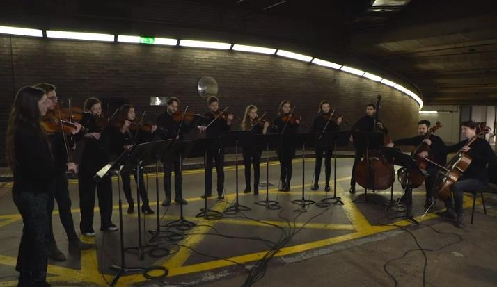 12 ensemble performs 'Honey Siren - II. (Full like drips)' by Oliver Leith