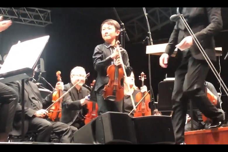 A nosebleed won't stop plucky prodigy Christian Li   Video   The Strad