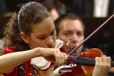 Hilary Hahn plays Sibelius in 1996