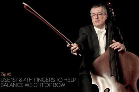 double bass bow hold