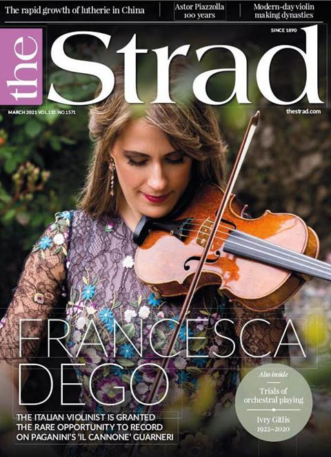 Francesca Dego: the Italian violinist is granted the rare opportunity to record on Paganini's 'Il Cannone' Guarneri 'del Gesù' | March 2021 issue | The Strad