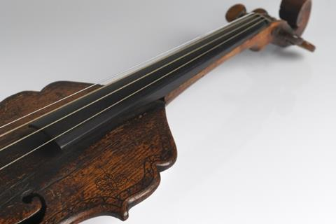 Violin without sides possibly the bassano family of venice and london