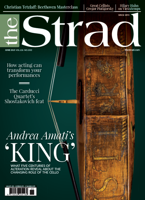 We examine five centuries of alteration to the Amati 'King' cello