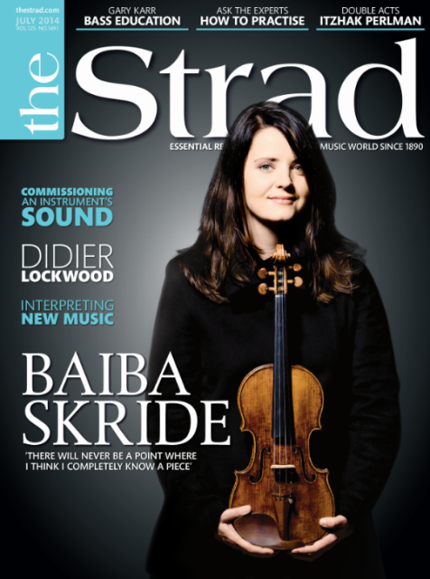The issue includes an interview with Latvian violinist Baiba Skride and an article on how musicians go about commissioning an instrument's sound from luthiers