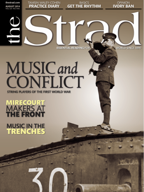 The issue marks the centenary of World War I with a music and conflict theme