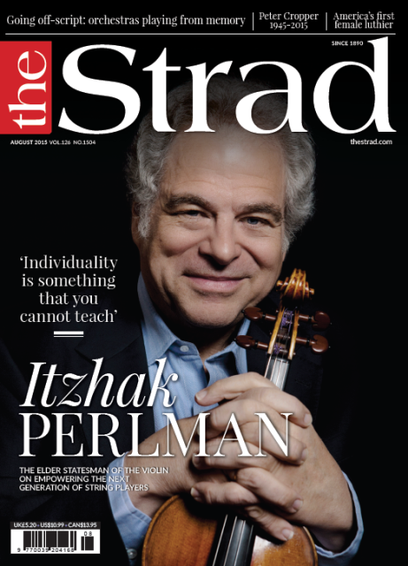 August 2015 issue | Itzhak Perlman | The Strad