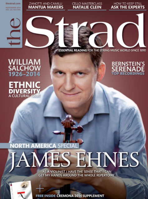 Our North America special features an interview with Canadian violinist James Ehnes and a tribute to US bow maker William Salchow
