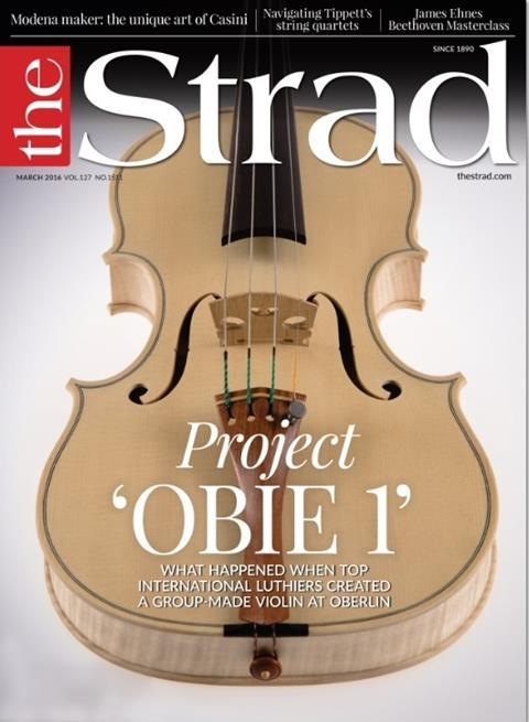 What happened when top international luthiers created a group-made violin - Project 'OBIE 1' - at VSA/Oberlin Violin Makers Workshop