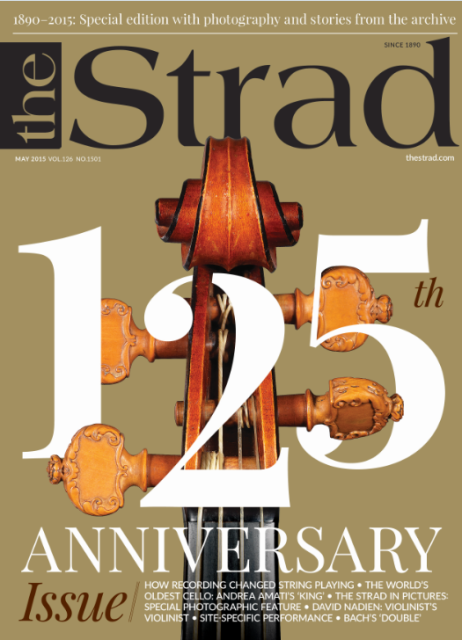 Our 125th birthday issue includes features on how recording changed string playing and the Amati 'King' cello