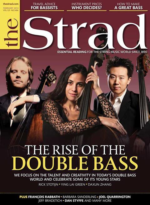 Double bass issue celebrates the talent and creativity in today's double bass world