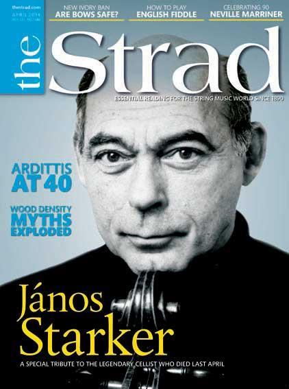 Tributes to János Starker, 40 years of the Arditti Quartet and a beautifully decorated bow are among this month's features
