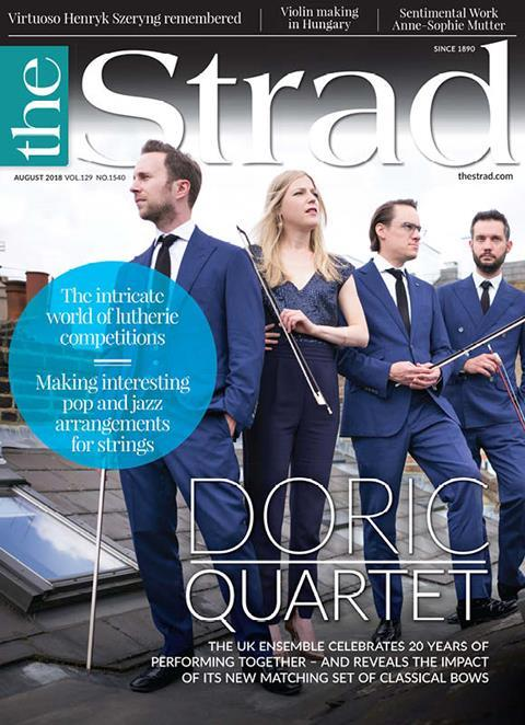 Doric Quartet: celebrating 20 years together – plus the impact of a new matching set of classical bows