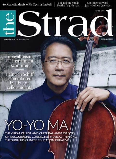 Yo-Yo Ma's initiative to encourage young players in Guangdong, and his enthusiasm for making all kinds of connections