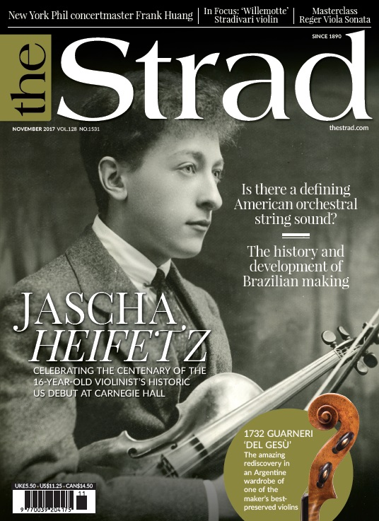 Celebrating the centenary of Jascha Heifetz's historic US debut at Carnegie Hall