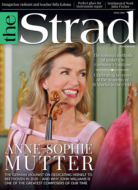 Anne-Sophie Mutter: On her Beethoven deep immersion during the 250th anniversary year and collaborating with film composer John Williams | April 2020 issue | The Strad
