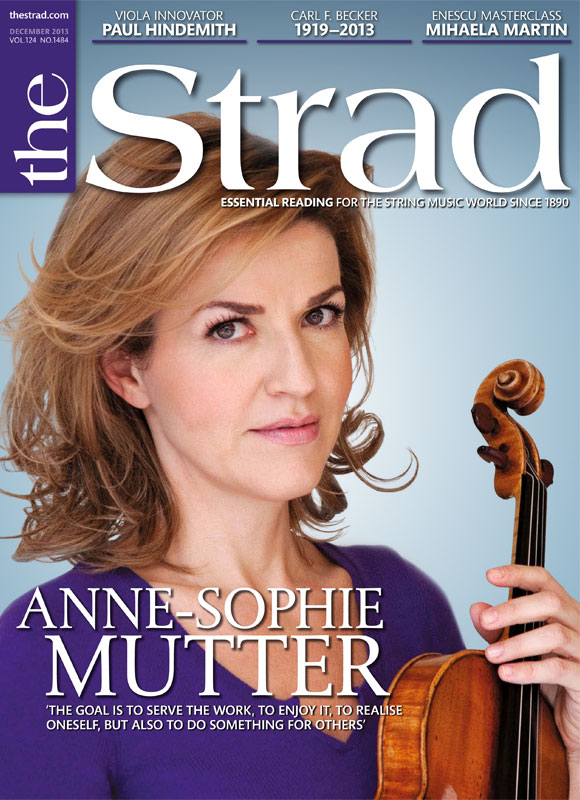December 2013 issue | Anne-Sophie Mutter | The Strad