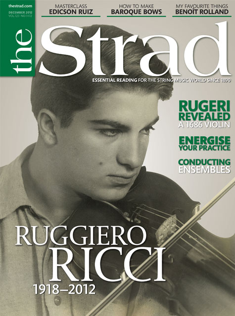 December 2012 issue | Ruggiero Ricci