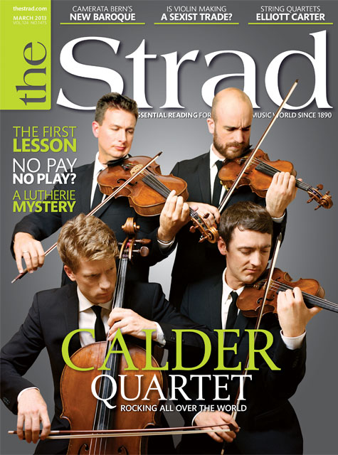 March 2013 issue | Calder Quartet