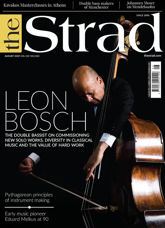 Leon Bosch: The double bassist on commissioning new solo works, diversity in classical music and the value of hard work.