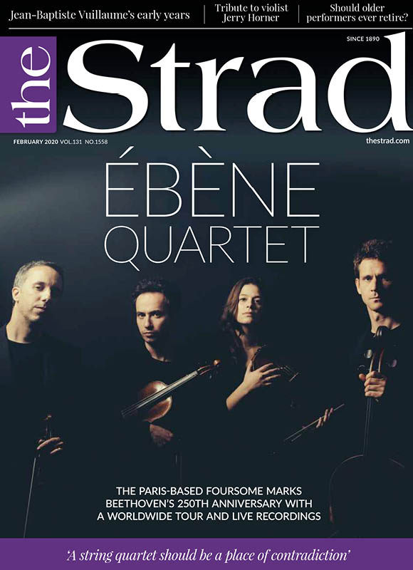 The Ébène Quartet marks its 20th anniversary with a worldwide Beethoven tour and live recordings, and talks about the challenge of finding a new violist | February 2020 issue | The Strad